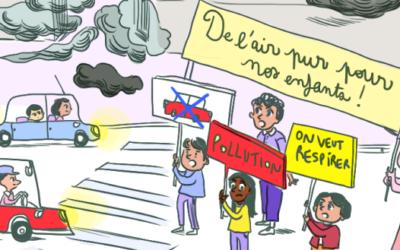 La majorité des Parisien.ne.s et des Lyonnais.e.s veulent des mesures pour mieux protéger les enfants de la pollution de l'air